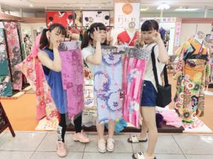 阪南市わくわくシティオークワ2Fきものりんか尾崎店 浴衣学割100円まつり開催!